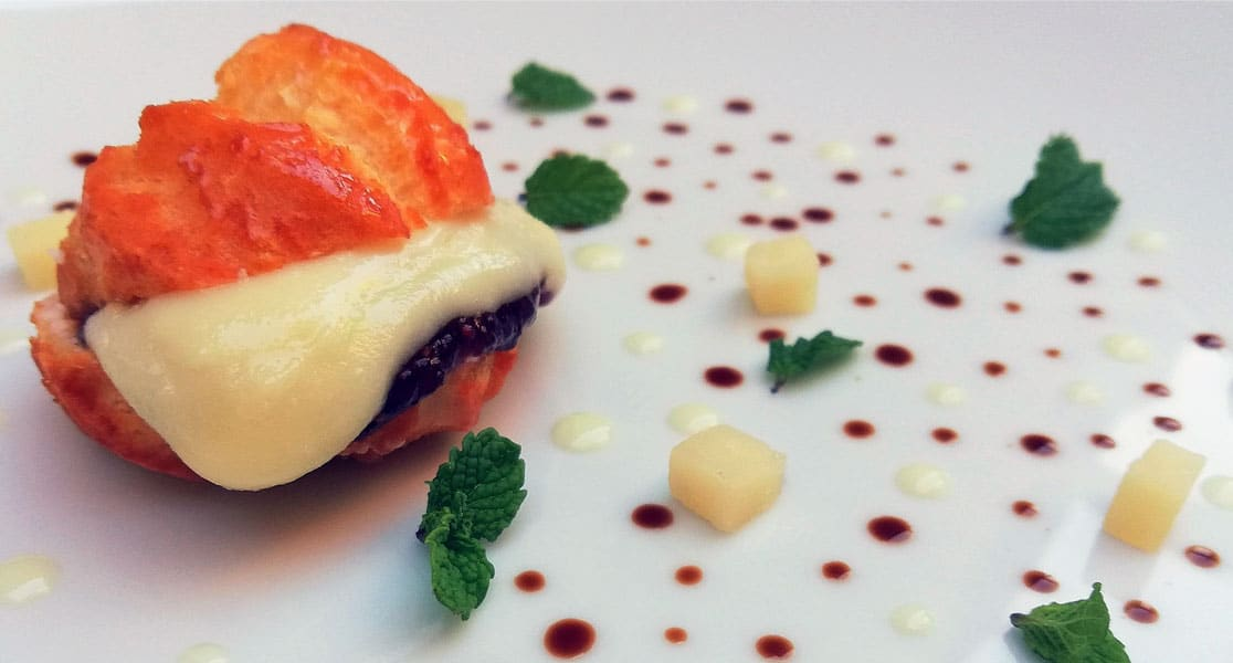 RECETAS-MAXORATA-Lionesas de queso El Tofio semicurado gofio con pure de higos y cardamomo-chef-ale-de-la-nuez